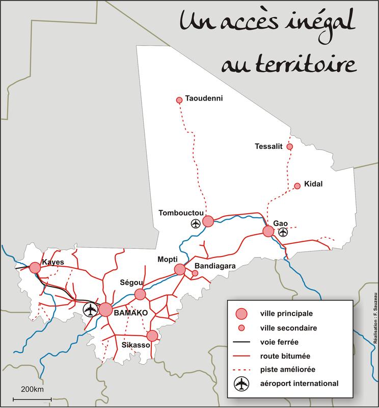Villes et transport au Mali