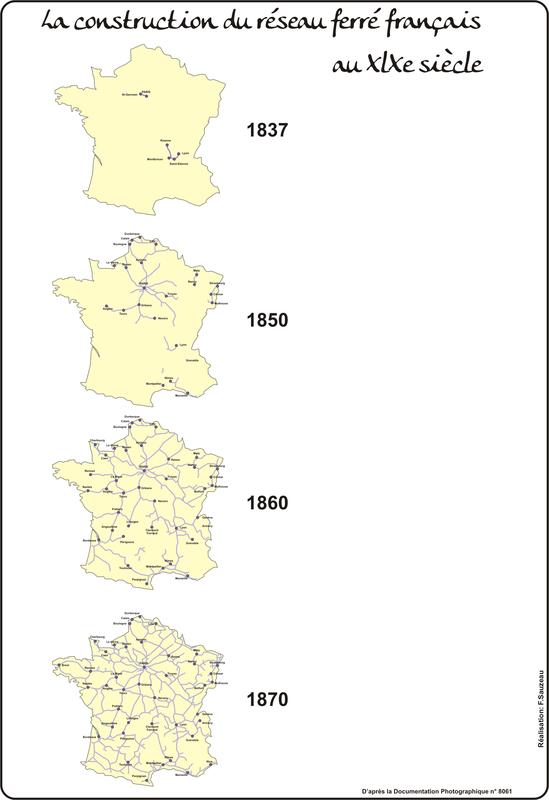 La construction du réseau ferré français (1837 - 1870)