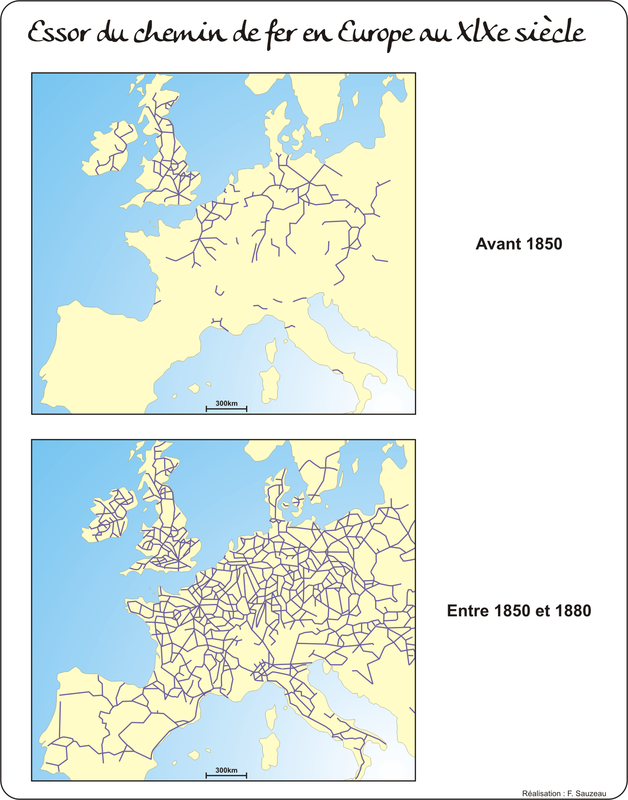 carte chemin de fer La société au XlXe siècle | L'Atelier d'HG Sempai
