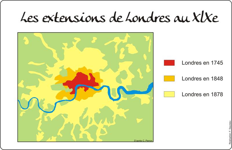 les extensions de Londres au XlXe