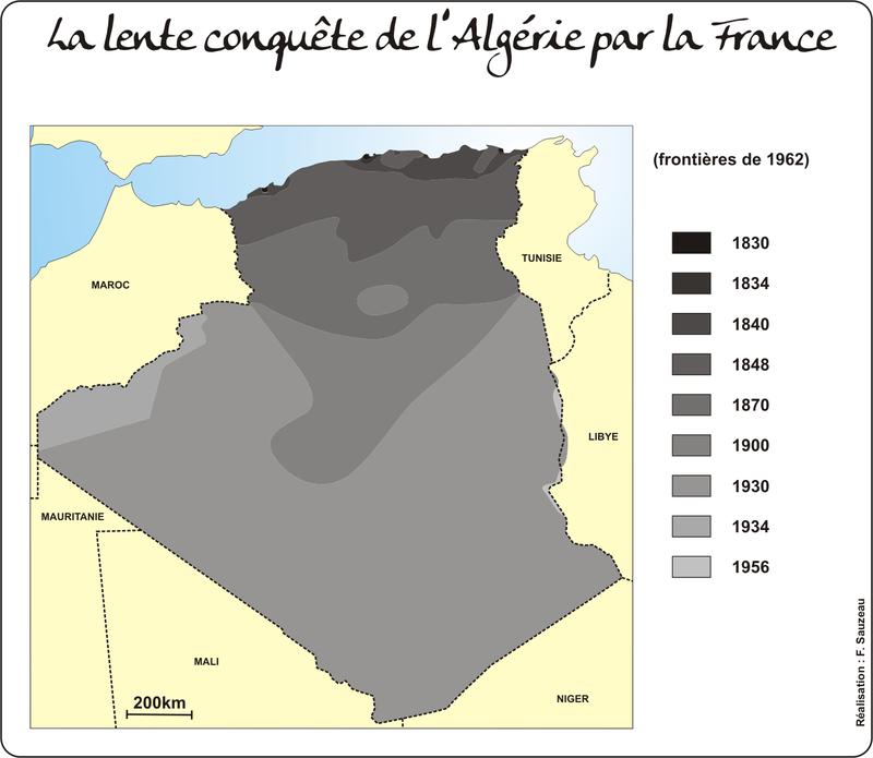 la conquête de l'Algérie par la France