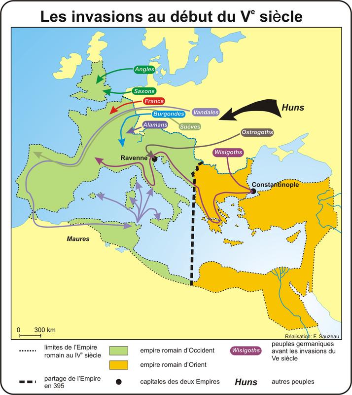 les invasions au début du Ve siècle