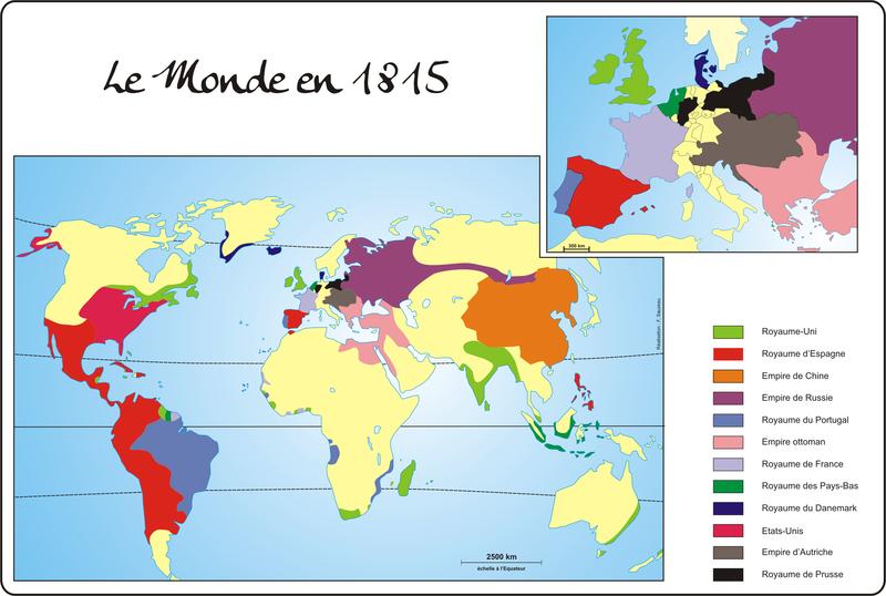 le Monde et l'Europe en 18155
