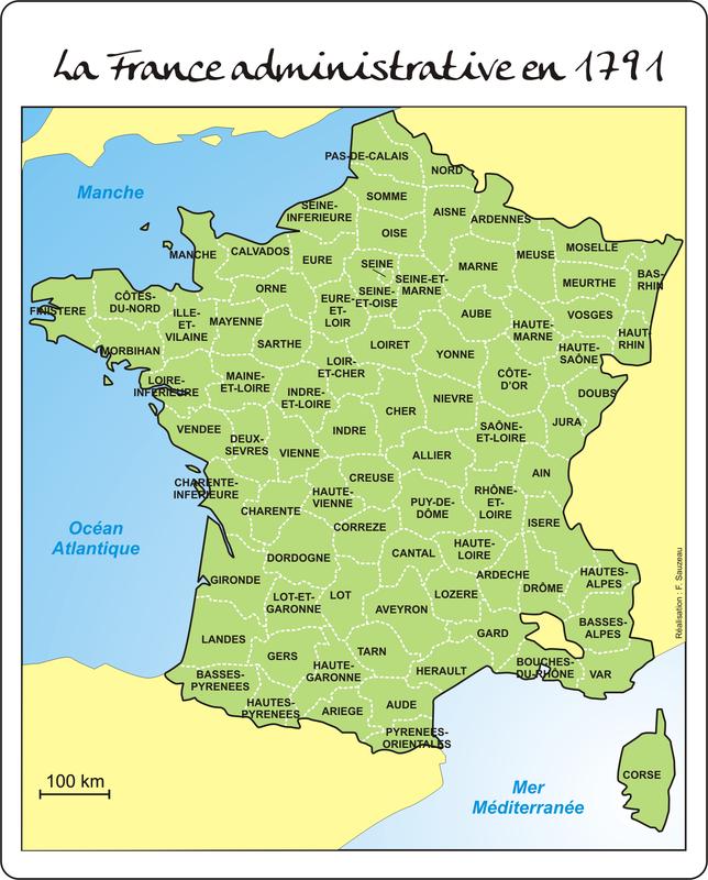 France administrative en 1791