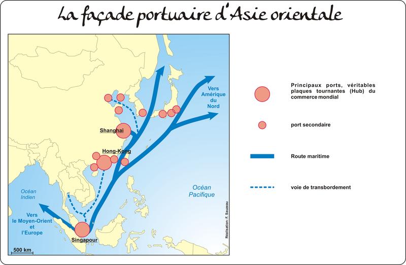 La façade portuaire d'Asie orientale