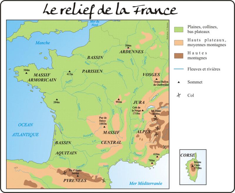 Le relief français