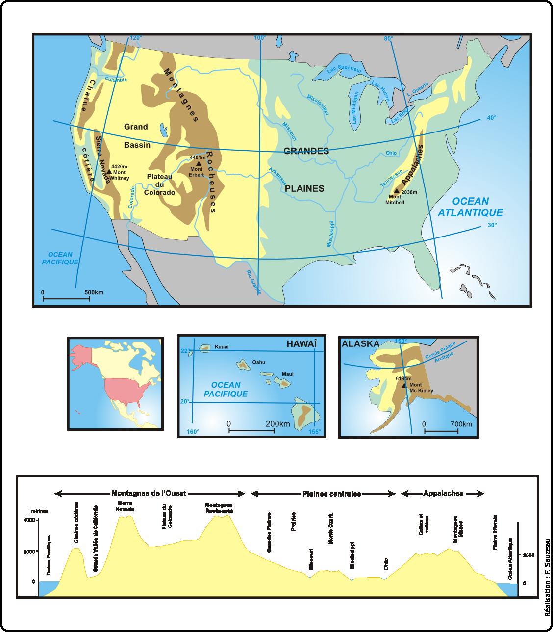 Le territoire des Etats-Unis