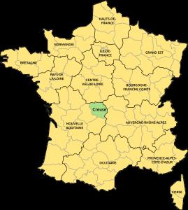 Creuse localisation