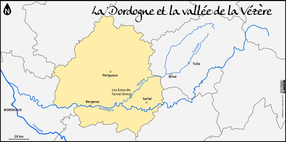 vallée de la vézère carte la vallée de la Vézère | L'Atelier d'HG Sempai