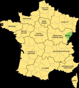 Doubs localisation