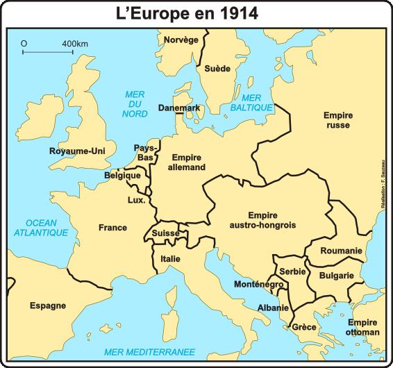 Carte Europe Ww1.1914 L Atelier Carto D Hg Sempai