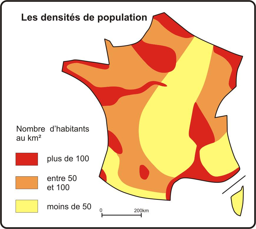 carte densité population france Répartition de la population française et dynamiques spatiales | L